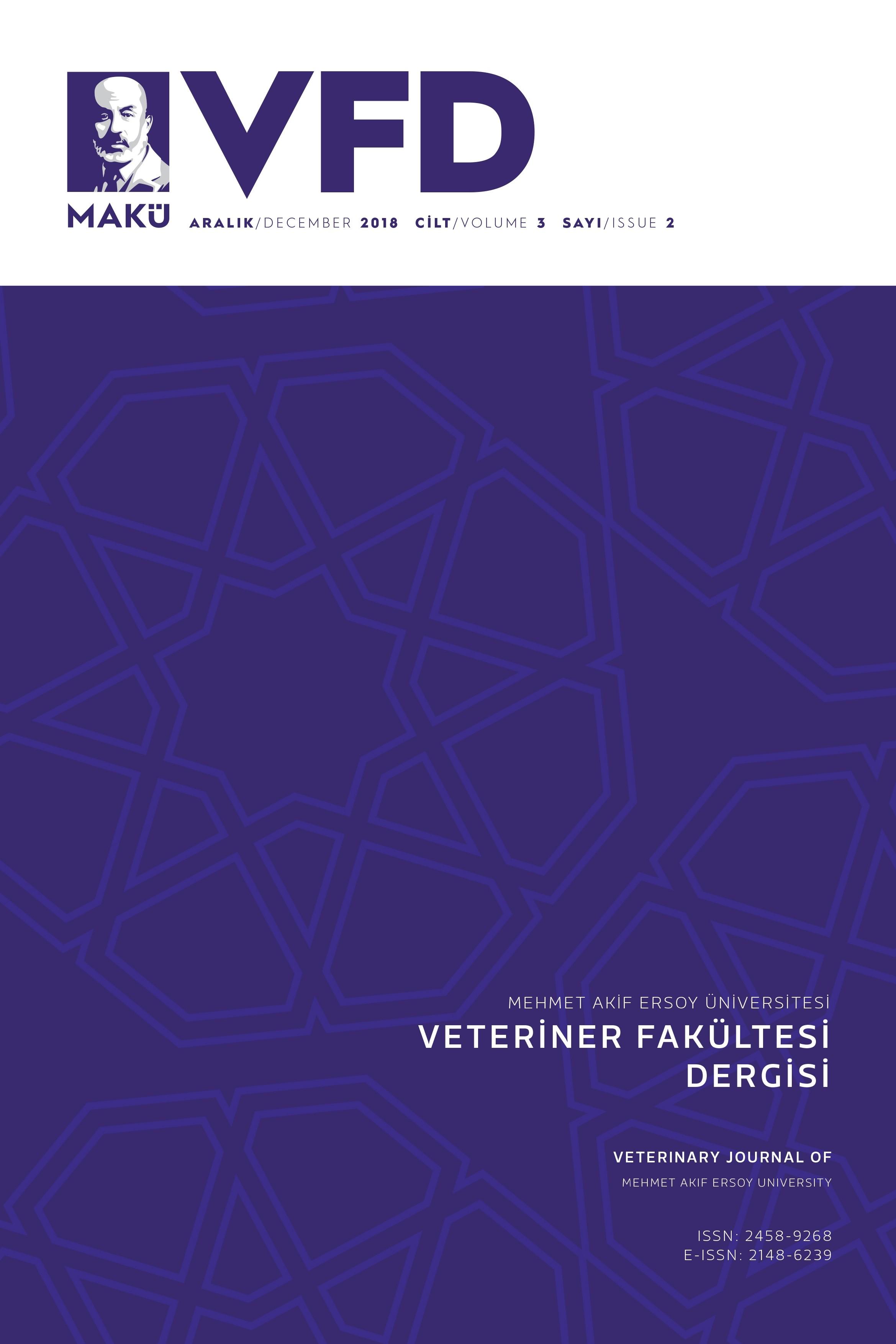 Veterinary Journal of Mehmet Akif Ersoy University