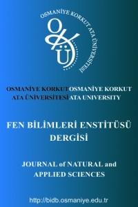 Osmaniye Korkut Ata Üniversitesi Fen Bilimleri Enstitüsü Dergisi