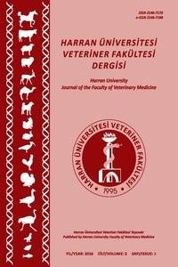 Harran Üniversitesi Veteriner Fakültesi Dergisi